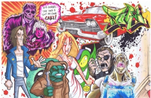 Stephen King Jam: left half Comic Art
